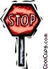 stop sign Vector Clipart graphic
