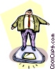 Vector Clip Art graphic  of a businessman standing on a