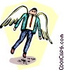 Vector Clipart image  of a businessman angel