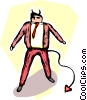 businessman devil Vector Clipart picture