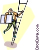 man climbing the ladder of success Vector Clipart picture