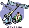 satellite communication Vector Clipart image