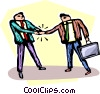 Vector Clipart image  of a businessmen shaking hands