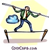 tightrope walker Vector Clip Art picture