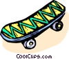 Vector Clipart graphic  of a skateboard