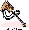 Vector Clipart graphic  of a hobby horse