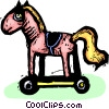 toy horse Vector Clipart illustration