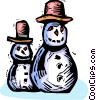 Vector Clipart graphic  of a snowmen