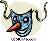Vector Clipart picture  of a mask