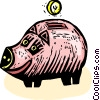piggy bank Vector Clip Art picture