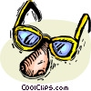 glasses with a fake nose Vector Clipart picture