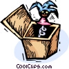 jack-in-the-box Vector Clip Art picture