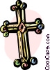 The Cross Vector Clip Art graphic