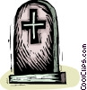 gravestone Vector Clipart illustration
