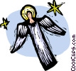 Vector Clip Art graphic  of an angel