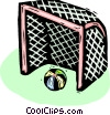 Vector Clipart picture  of a soccer goal net