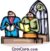 Vector Clipart image  of a parishioners