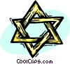 Vector Clip Art image  of a Star of David