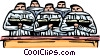 Vector Clipart picture  of a choir