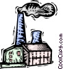 Vector Clipart illustration  of a factory