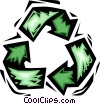 Vector Clip Art image  of a recycle symbol