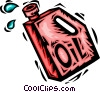 Vector Clip Art picture  of a oil container