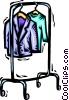 Vector Clip Art picture  of a clothes rack