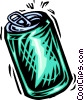 Vector Clip Art picture  of a soda can