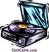 LP record player Vector Clip Art picture