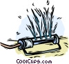 Vector Clipart picture  of a lawn sprinkler