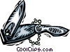Vector Clipart graphic  of a nail clippers