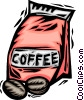 bag of coffee beans Vector Clipart illustration