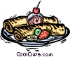 plate of food Vector Clipart picture
