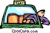 Vector Clip Art graphic  of a taxi driver