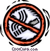 Vector Clip Art image  of a no smoking