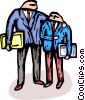 Vector Clip Art graphic  of a Two businessmen