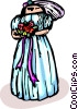 Vector Clipart illustration  of a Bride with flowers