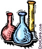 test tubes, beakers and flasks Vector Clipart image