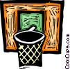 Basketball net Vector Clipart illustration
