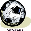 Vector Clipart graphic  of a Soccer ball