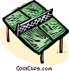 Vector Clip Art image  of a ping pong table