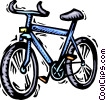 Vector Clipart graphic  of a Child's bicycle