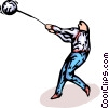 Vector Clip Art picture  of a hammer throw