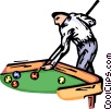Vector Clipart picture  of a Pool player