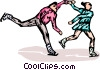 Figure skaters Vector Clipart illustration