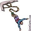 Bungee jumper Vector Clipart picture