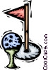 golf ball and tee Vector Clip Art graphic