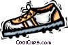 Vector Clip Art image  of a cleat