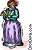 woman in costume Vector Clip Art image