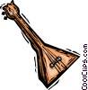 Vector Clipart graphic  of a balalaika